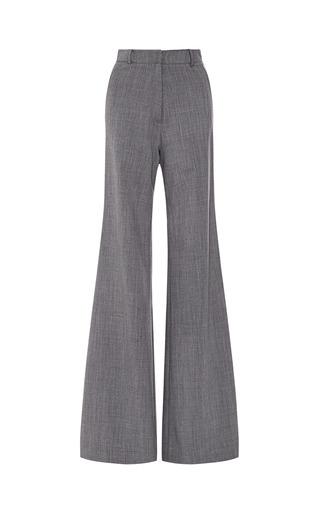 Medium zac posen dark grey cool wool trouser