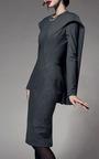 Cool Wool Cape Back Dress by ZAC POSEN for Preorder on Moda Operandi