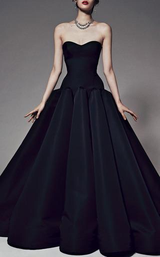 Silk Faille Strapless Gown by ZAC POSEN for Preorder on Moda Operandi
