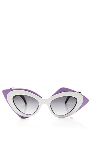 Medium linda farrow purple prabal gurung cat eye acetate sunglasses