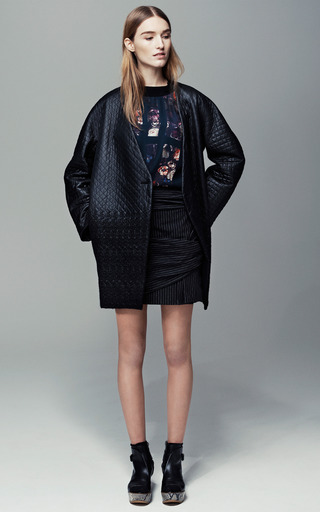 Quilted Cocoon Coat by THAKOON ADDITION for Preorder on Moda Operandi