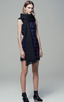 Plaid Suiting Cutout Back Dress by THAKOON ADDITION for Preorder on Moda Operandi