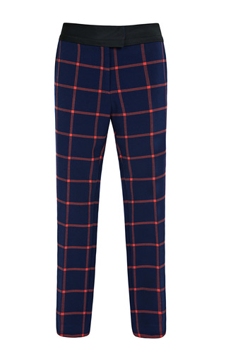 Medium thakoon addition multi plaid suiting cropped trousers