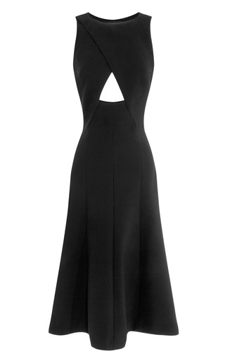 Bonded Crepe Sleeveless Cut Out Dress by THAKOON for Preorder on Moda Operandi