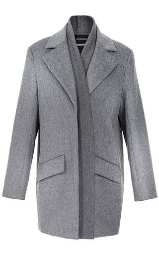 Brushed Wool Rib Front Coat by THAKOON for Preorder on Moda Operandi