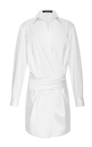 Medium thakoon white banded waist poplin shirtdress