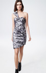 Floral Jacquard One Shoulder Wrap Dress by THAKOON for Preorder on Moda Operandi