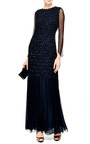 Embellished Silk Chiffon Smocked Gown by OSCAR DE LA RENTA Now Available on Moda Operandi