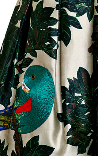 Embroidered Silk Blend Mikado Dress by OSCAR DE LA RENTA Now Available on Moda Operandi