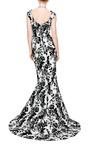Jacquard Silk Two Piece Dress by OSCAR DE LA RENTA Now Available on Moda Operandi