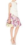 Floral Print Pleated Skirt by OSCAR DE LA RENTA Now Available on Moda Operandi