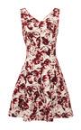 Sleeveless V Neck Cross Back Dress by OSCAR DE LA RENTA Now Available on Moda Operandi