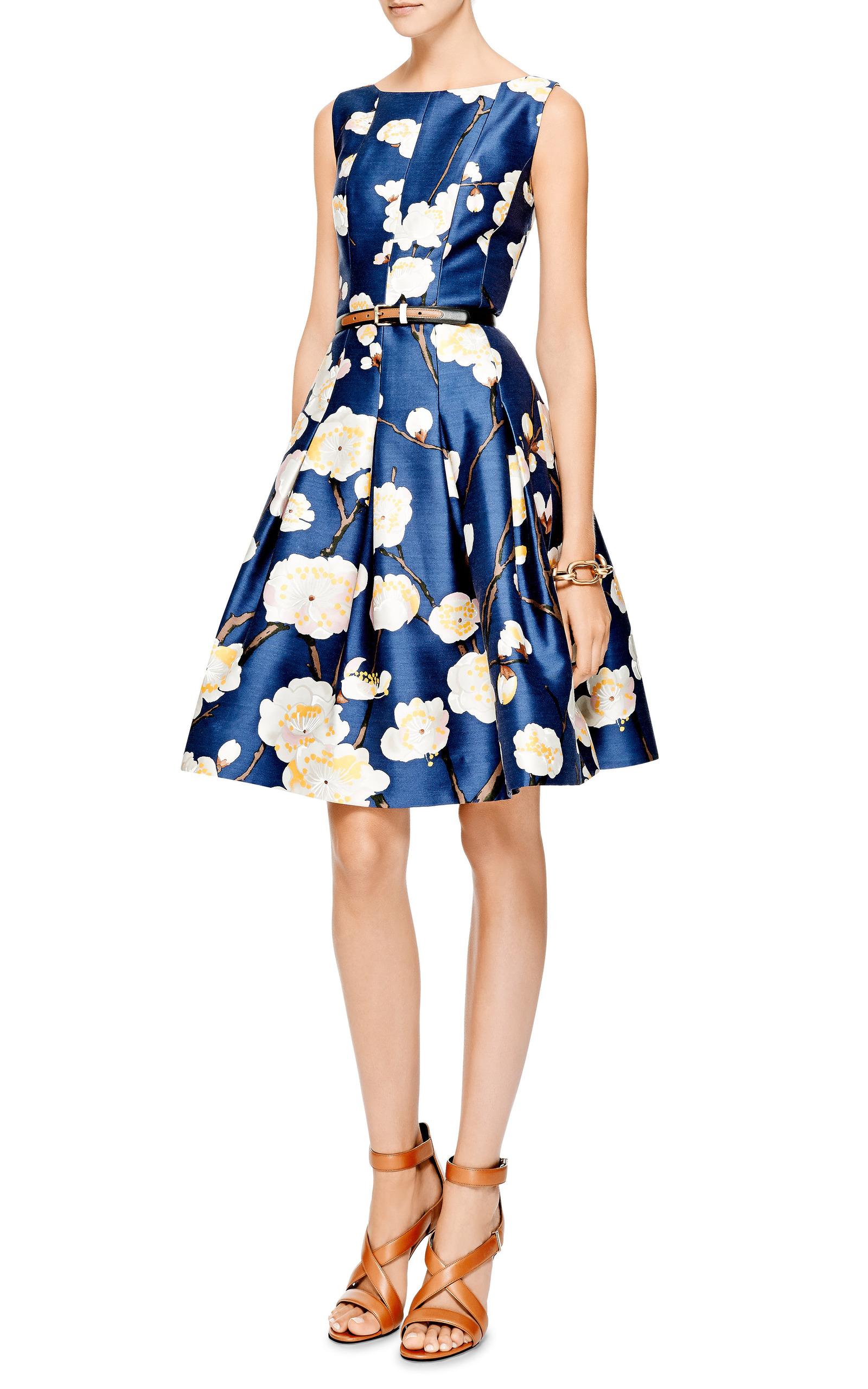 47bc3632d4 Oscar de la RentaFloral-Print Silk-Blend Dress. CLOSE. Loading