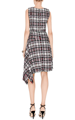 Asymmetric Hem Tweed Dress by OSCAR DE LA RENTA Now Available on Moda Operandi