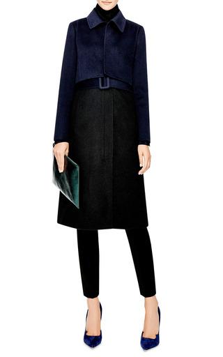 Wool Blend Tromp L'oeil Coat by OSCAR DE LA RENTA Now Available on Moda Operandi