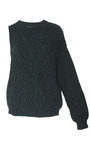 Forest Roving Cabled Knit One Sleeve Pullover by THAKOON for Preorder on Moda Operandi