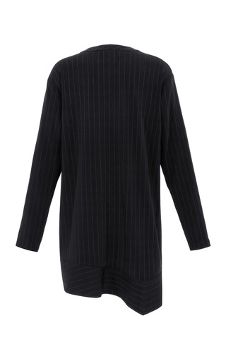 Striped Suiting Slouchy Long Sleeve Dress by THAKOON for Preorder on Moda Operandi