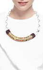 One Of A Kind Vintage Fabric And Rope Necklace by MASTERPEACE Now Available on Moda Operandi