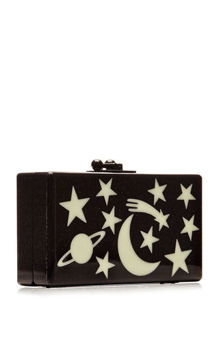 Glow In The Dark Jean Solar System Clutch by EDIE PARKER for Preorder on Moda Operandi