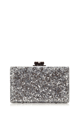 Medium edie parker silver minnie silver star clutch