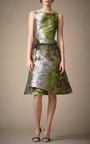 Floral Water Color Cocktail Dress by CAROLINA HERRERA for Preorder on Moda Operandi