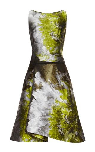 Medium carolina herrera multi floral water color cocktail dress
