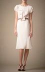 Cap Sleeve Dress With Ruffle Detail by CAROLINA HERRERA for Preorder on Moda Operandi