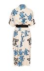 Bordered Floral Print Shirt Dress by CAROLINA HERRERA for Preorder on Moda Operandi