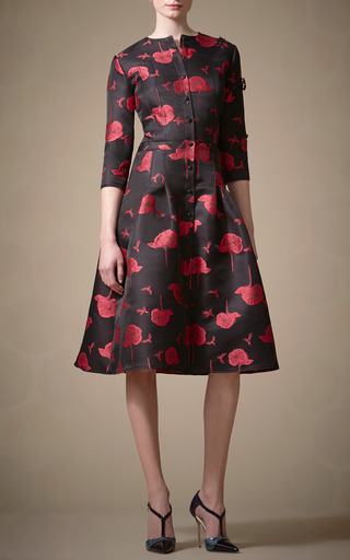 Bee And Floral Print Dress by CAROLINA HERRERA for Preorder on Moda Operandi
