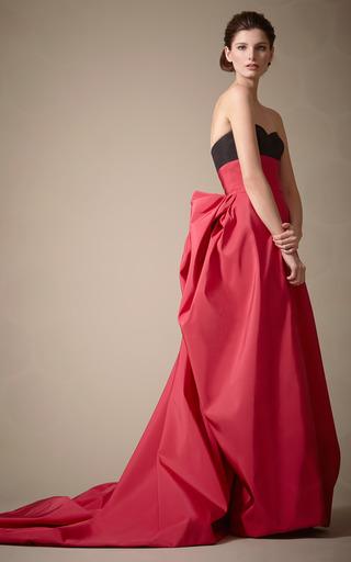 Silk Faille Gown With Ribbon by CAROLINA HERRERA for Preorder on Moda Operandi