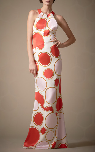 Multi Dots Devore Gown by CAROLINA HERRERA for Preorder on Moda Operandi