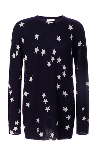 Medium equipment ivory fallen star print rei crew neck sweater