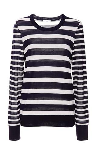 Medium equipment ivory nautical stripe mix shane crew neck sweater