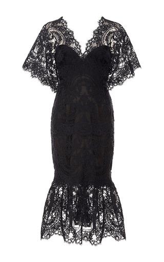 Medium marchesa black corded lace cocktail dress
