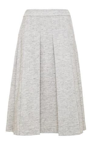 Medium derek lam 10 crosby dark grey box pleat tea length skirt