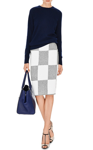 Checkerboard Knit Skirt by DEREK LAM 10 CROSBY Now Available on Moda Operandi