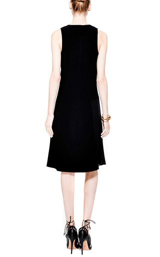 Side Pleated Crepe Dress by DEREK LAM 10 CROSBY Now Available on Moda Operandi
