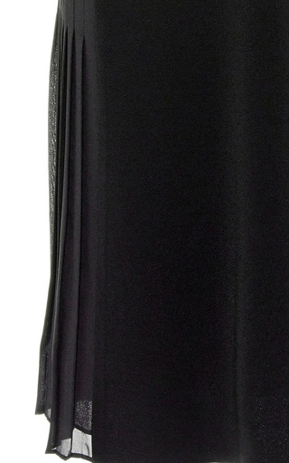 Side Pleated Crepe Dress by DEREK LAM 10 CROSBY Now Available on Moda Operandi