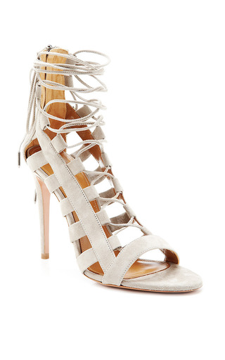 Amazon Lace Up Suede Sandals by AQUAZZURA Now Available on Moda Operandi