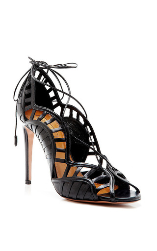 Lola Lace Up Leather Sandals by AQUAZZURA Now Available on Moda Operandi