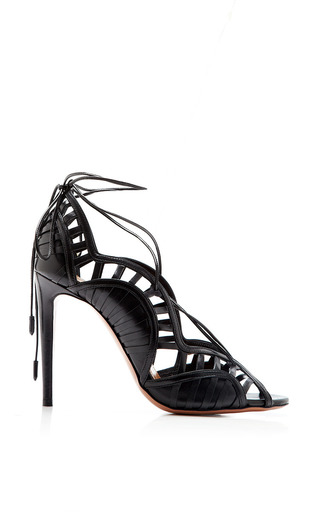 Medium aquazzura black lola sandals