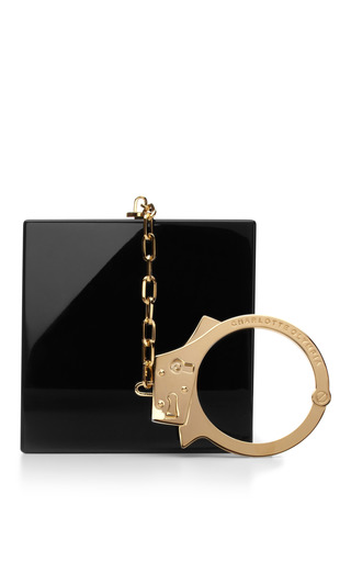 Handcuff Perspex Clutch by CHARLOTTE OLYMPIA Now Available on Moda Operandi