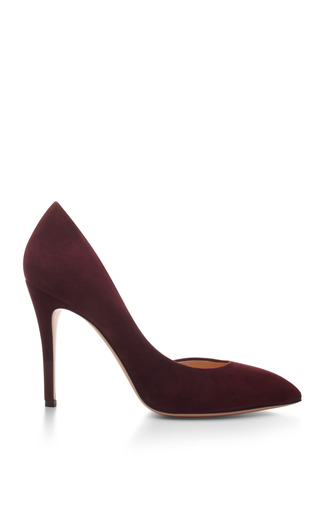 Medium charlotte olympia burgundy the lady is a vamp suede pumps