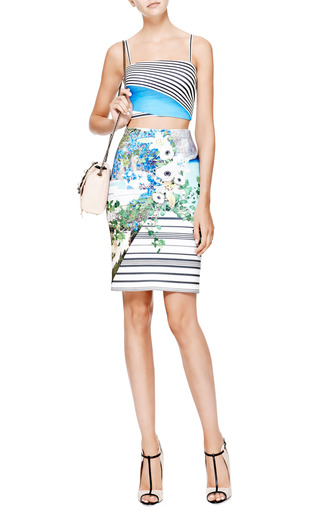 Printed Neoprene Skirt by CLOVER CANYON Now Available on Moda Operandi