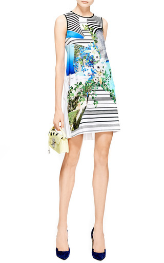 Printed Pleat Back Dress by CLOVER CANYON Now Available on Moda Operandi