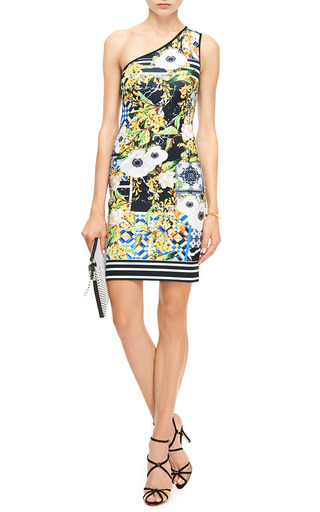 Printed Neoprene Asymmetric Dress by CLOVER CANYON Now Available on Moda Operandi
