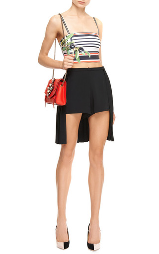 Pleat Back Shorts by CLOVER CANYON Now Available on Moda Operandi