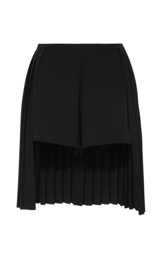 Medium clover canyon black back pleated short