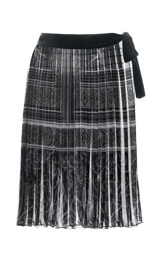Medium clover canyon black printed chiffon sarong
