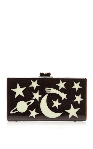 Medium edie parker black jean solar system clutch